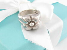 Tiffany & Co Picasso Silver Hammered Flower Ring Size 8 Box Included
