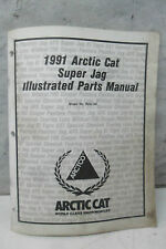 1991 Arctic Cat Super Jag Snowmobile Illustrated Parts Manual