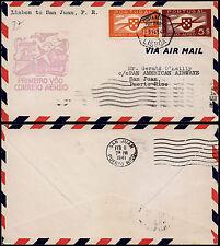 Portugal 1941 - 1st Flight Commemorative cover Lisbon -San Juan Proto-Rico