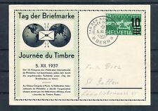 Karte Tag der Briefmarke Schweiz Mi.-Nr. 286 EF Bern-St. Gallen - b5036