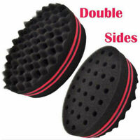 1PC Double Sides Wave Barber Hair Brush Sponge Dreads Afro Locs Twist Curl Coil