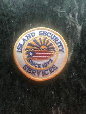 "Island Security Services Uniform Patch 3"" Vtg Orig Unused Puerto Rico 80s Rare"