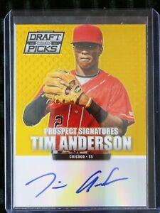 Tim Anderson 2013 Prizm Draft Picks Gold Auto Autograph #7/10 White Sox RC  RARE