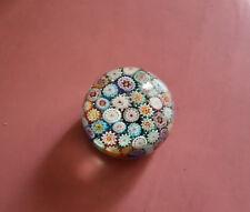 Fermacarte vetro Murano realizzato con murrine colorate anni 40
