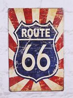 Popular Route 66 Poster Vintage Tin Metal Signs Home Pub Bar Decor Wall Art