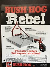 Vintage Bush Hog Rebel Rotary Cutter Lawn Mower Brochure Spec Sheet