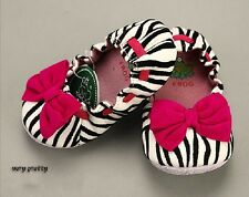 Toddler Girls Zebra Print Large Bow Ballet Flats Shoes SIZE 4.5.6.7.8 Pink/Red
