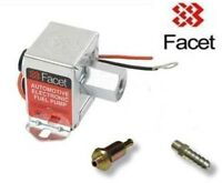 FACET 4.0 - 7.0 psi Fuel Pump 8mm filter & union 40106 solid state electric pump