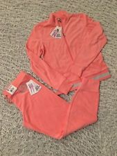 JUICY COUTURE SET luxury Velour Hoodie/ jacket &Joggers Cabana pink size S