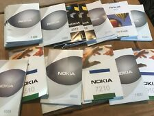 INSTRUCTION MANUALS FOR NOKIA MOBILE PHONES - VARIOUS MODELS AVAILABLE