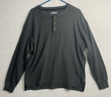 New listing SMITH'S WORKWEAR Mens 1/4 Button Long Sleeve Sweater Pullover Gray XL