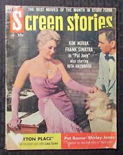 1957 Dec SCREEN STORIES Magazine G/VG 3.0 Frank Sinatra - Kim Novak