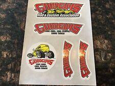 Sheet of GOOD GUYS Rod & Custom Tour Stickers Emblem *5 DECALS* 4 DESIGNS!