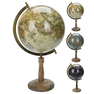 Vintage Style Rotating Atlas Globe Swivel Earth Map Geography World Science Gift
