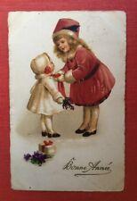 CPSM. 1925. Petites Filles en Manteau d'hiver. Bonne Année.
