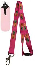 Tropical pineapple lanyard with Electronic e-cig lanyard pouch