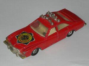 ULTRA RARE VTG 1978 CORGI MARKS & SPENCER St MICHAEL BUICK REGAL FIRE CHIEF CAR