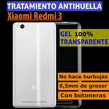 """FUNDA TPU DE GEL SILICONA TRANSPARENTE PARA XIAOMI REDMI 3 / 3 PRO / 3S (5"""")"""