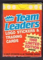 1988 Fleer Team Leaders 44 Card Set w/Stickers jh62