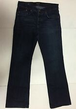 Rock and Republic Floyd Jeans Men's 34 Boot cut Dark Stonewashed Button Closure