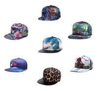 Fashion 3D Print Mens Womens Bboy Adjustable Baseball Cap Snapback Hip-hop Hats