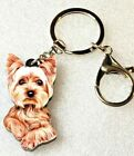 Yorkshire Terrier Yorkie Dog Flat Acrylic Key Ring Keychain Jewelry