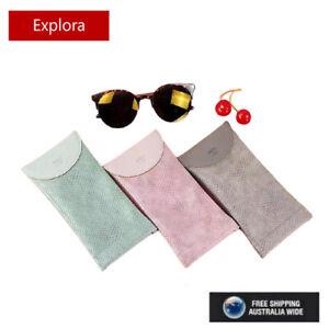 PU Leather Eyeglasses, Reading Glasses, Sunglasses Case, Snakeskin Soft Pouch