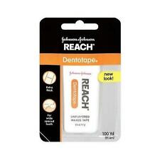 New JOHNSON Reach Dentotape Dental Floss Wide Unflavored - 100 Yard
