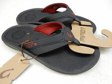 OLUKAI MENS SANDALS KIPI DARK SHADOW SIZE 12