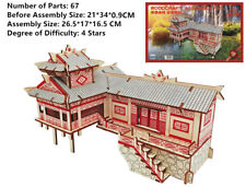 New Assembly DIY Education Toy 3D Wooden Model Puzzles Of China House On Stilts