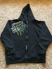 Monster Energy Hoodie Sweatshirt Zip Jacket Tactical Map Large