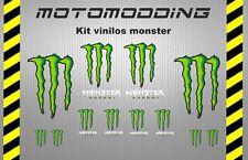Kit pegatinas moto monster adhesivos stickers decals autocollant  clacas rotulos