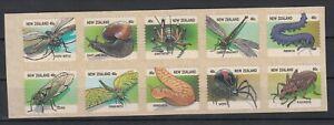New Zealand: 1997 Creepy Crawlies set pane of 6 stamps. MUH. Scarce & Cheap