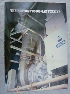 Ruston TB5000 gas turbine brochure May1985