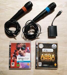 PS3 Singstar - 2 Mikrofone und 2 Spiele (Singstar + ABBA)