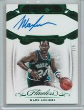 17/18 Panini Flawless Mark Aguirre Premium Ink Emerald Auto #'ed 1/5