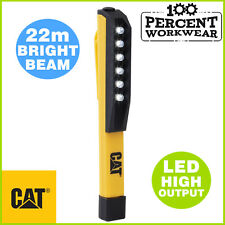 Pro Genuine CAT Caterpillar LED Work Bright Light 22m Beam Handy Size ABS Torch