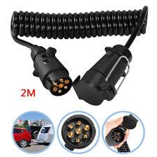 7 Pin to 13 Pin Trailer Adaptor Extension Lead Socket Plug Caravan Towing Board