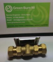 *New DANFOSS HPV22 2 PORT 22MM VALVE BRASS BODY (Only) Fits HPA2 Actuators