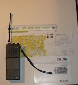 ICOM IC-4E 430 Mhz FM Transceiver mit Synthesizer  , Handfunksprechgerät