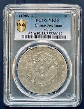 1909-11 China Szechuan Silver Dollar Coin $1 PCGS VF35 LM-352