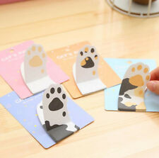 Cute Cat's Paw Sticker Bookmark Sticky Notes Post-It Pads Notebook Guestbook Tab