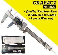 "Digital Vernier Caliper Stainless Steel 6"" 150mm Micrometer Electronic Tool"