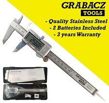 "Digital Vernier Caliper Stainless Steel 6"" 150mm Micrometer Electronic Tool"