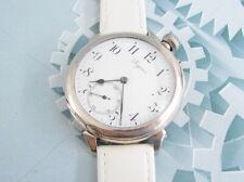 Rare LONGINES Enamel Dial Silver case Swiss Antique Driver Wristwatch Servised