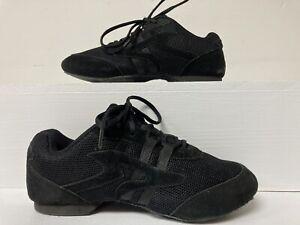 Sansha Salsette 1 Skazz Black Mesh and Suede High Step Jazz Sneaker Size 8M