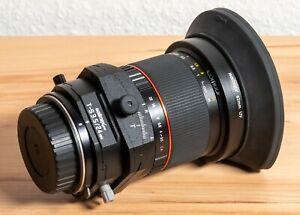 Walimex Pro 24 mm f1:3,5 Tilt- und Shift-Objektiv, manueller Fokus, für Canon