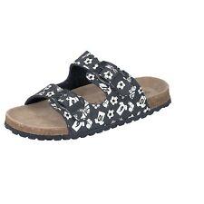 Softwaves Kinder Schuhe Hausschuhe 474-202 schwarz Fußball Pantoffeln Riemen