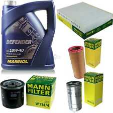 Motor-Öl 5L MANNOL Defender 10W-40 +MANN-FILTER Fiat Punto 188_ 1.9 JTD 80