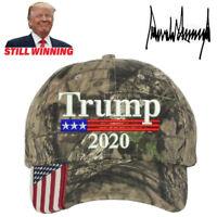 President Donald Trump 2020 Flag Cap Camo Hat Mesh Make America Great Again USA